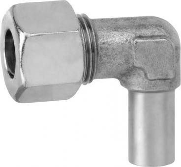 Einstellbare Winkel-Verschraubung Typ EVW mit Überwurfmutter Typ M und Schneidring Typ D